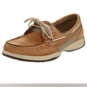 Sperry top sider intrepid Brown leather boat shoes